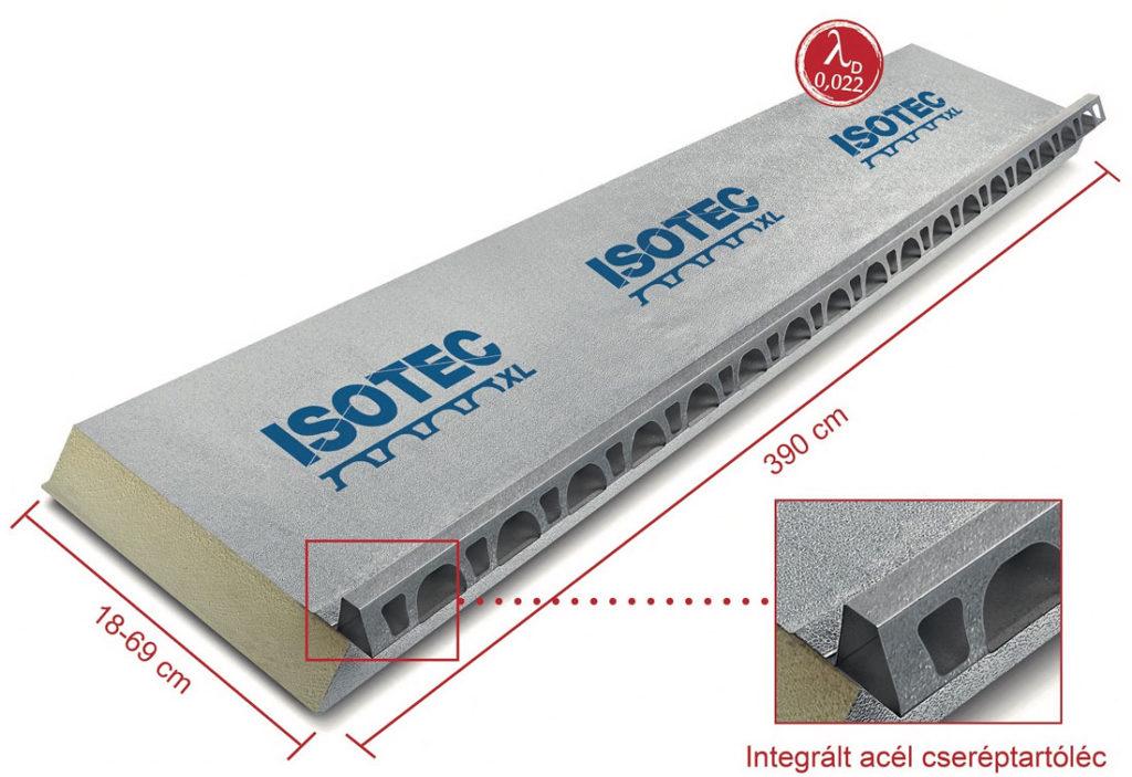 Isotec XL panel beépített rendszerelemekkel